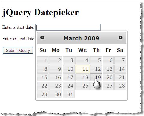 Slide 34 § jQuery Datepicker Widget § CSCI E-12 - March 24