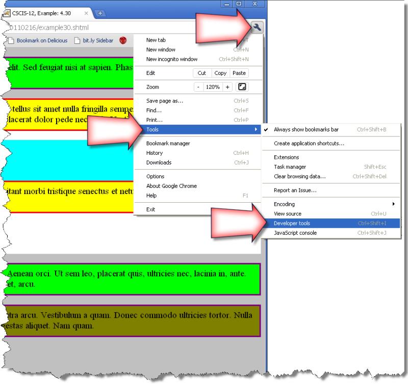 Slide 7 - Google Chrome: Developer Tools § Presentation - Cascading